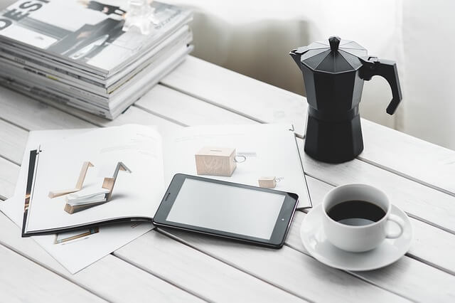 Tablet PC auf dem Tisch